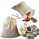 Gaosheng 3 bolsas de sopa de algodón reutilizables con cordón de algodón, bolsas de est...