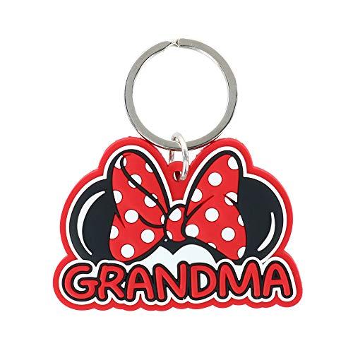 Jerry Leigh Disney Minnie Mouse nonna portachiavi portachiavi etichetta - rosso - taglia unica