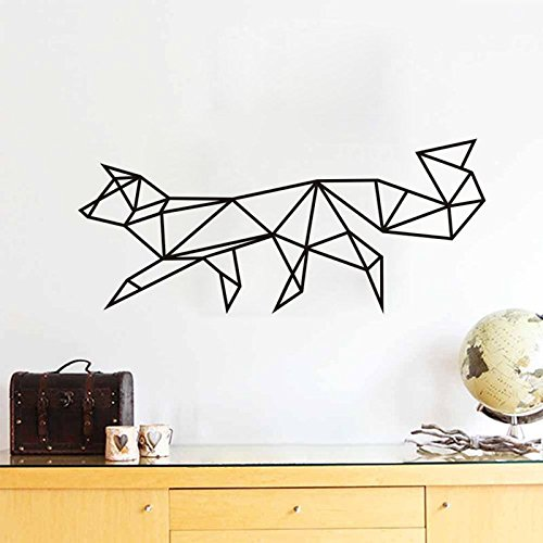 DIY Wall Sticker Decal, Origami Fox (2 Pieces) for Home Living Room Bedroom Decor