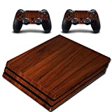 Wood Skin For PS4 Pro Cover To Fit Playstation 4 Pro Wooden Wrap VWAQ-PPGC4
