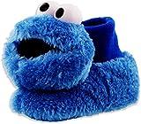 Sesame Street Cookie Monster Toddler Boys Girls Plush 3D Head Sock Top Slippers (7-8 M US Toddler, Cookie Monster Blue)
