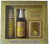 Coffret Sérum Anti-Âge Immortelle, Eau Florale d'Immortelle BIO, Savon à l'Immortelle Corse