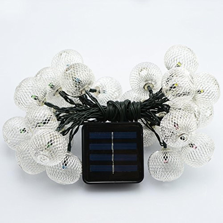Exklusiv für Solarlichterkette 20LED schmiedeeiserne Laternendekorationslampe im Freien wasserdichte Weihnachtsgartenlaterne