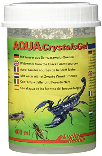 Lucky Reptile Aqua Crystals Gel 400 ml, Wassergel für Vogelspinnen, Skorpionen, Futterinsekten etc.