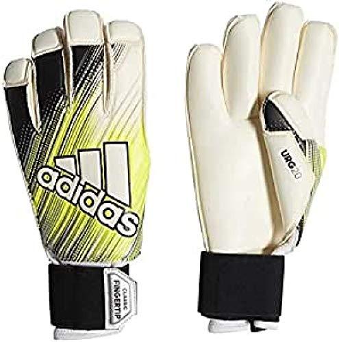 adidas Classic Pro Fingertip Guantes de Portero, Hombre, Negro/Amarillo y Blanco, 11