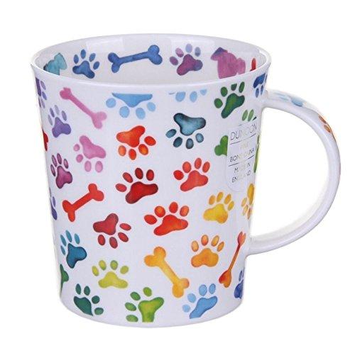 Dunoon Bone China Lomond Mug - Pawprints Range - Colourful Dog Paws