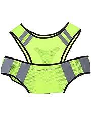 VILLCASE Chaleco Reflectante de Seguridad Chaleco para Correr de Noche Chaleco de Alta Visibilidad Chaleco Reflectante para Actividades Al Aire Libre Ciclismo Correr