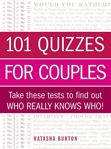 101 Quizzes for Couples: Take These Tests to Find Out Who Really Knows...