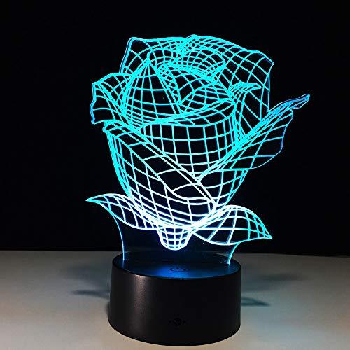 Fiori artificiali fai-da-te con luci a led Armadio Lampada da notte a batteria Motion Led USB Lampada 3d Decorazione da tavolo