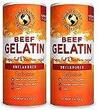 Great Lakes Gelatin, Certified Paleo Friendly, Collagen Protein, Pasture-Raised, Grass-Fed, Non-GMO, Kosher, Beef Gelatin, 16 oz. 2-Pack - Frustration Free Packaging
