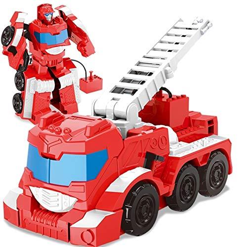WCCCY Figura Atemporal de los Niños Fuego De Camiones De Deformación Robot Robot Robot Modelo Figura De Acción para Niños Y Niñas Coche Robert para Adultos Y Niños Modelo de Robot