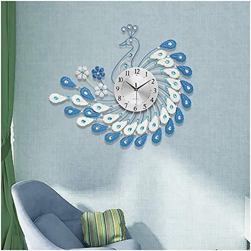 Pavo Real Moderno Minimalista Creativo Moda Personalidad silenciosa Dormitorio Oficina Sala de Estar Escuela Reloj de Pared