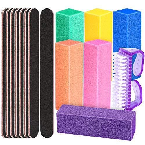 15 Stk. Buffer für Nägel Schleifblöcke Set, FANDAMEI Profi Nagelfeile Set 100/180, Nagelfeilen Nagel Buffer Block, für Nagelkunst für Natürliche Nägel und Gelnägel