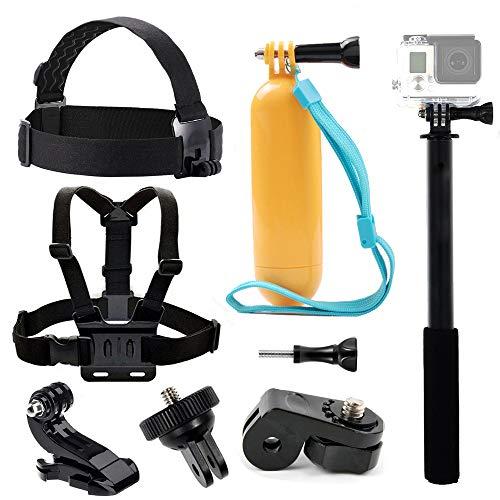 Tekcam Accessory Bundle kit Chest Harness Head strap Mount galleggiante impugnatura selfie stick per Yi 4K Vivitar Akaso EK7000Crosstour 4K Action Camera Sony fotocamera digitale