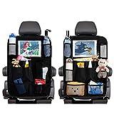Auto Rückenlehnenschutz, Autositz Rückenprotektoren Trittmatten mit 8 Aufbewahrungstaschen...