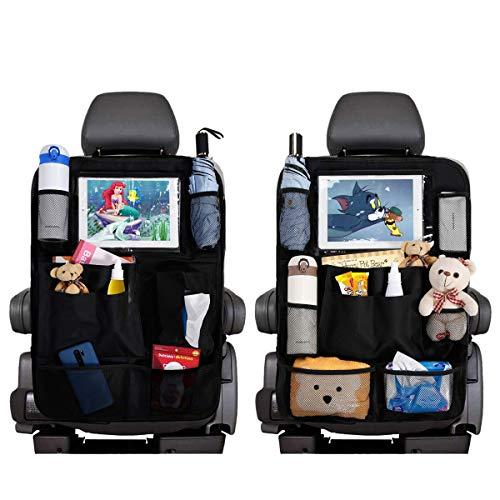 Car Backseat Organizers, Car Seat Back Protectors Kick Mats with 8 Storage...