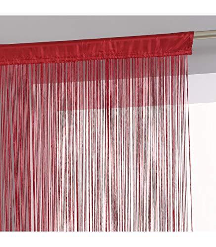 Rideau fil (largeur 120 cm) Rouge