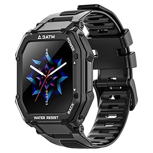 3ATM 30M Deporte Impermeable Smart Watch Men Fitness Pulsera Smartwatch Al Aire Libre Al Aire Libre para El Teléfono Inteligente Nadar Relojes De Buceo,A