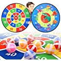 Tomyou 26 Inchs Double Sided Dinosaur Themed Board Games & Dart Board