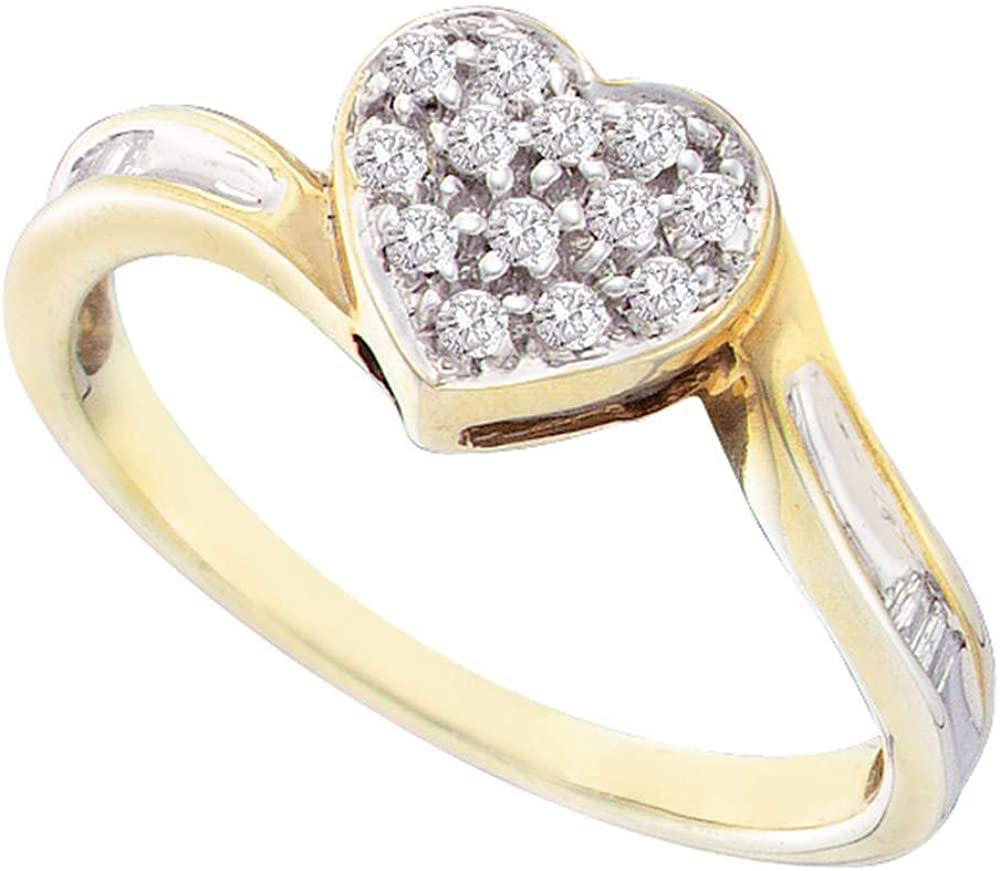 Dazzlingrock Collection Yellow-tone Many popular brands Sterling Womens Silver Super-cheap Round