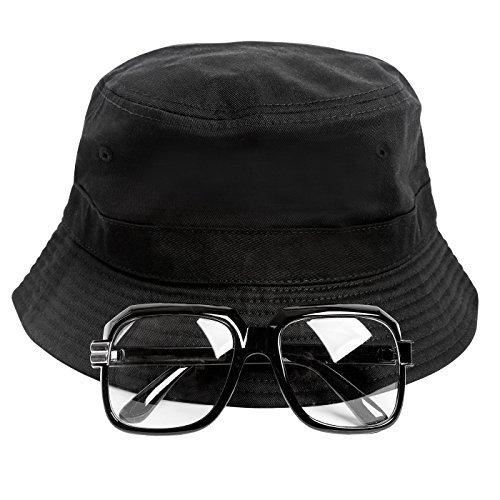 80s Hip-Hop Run DMC Costume Kit. INcludes hat and glasses. Add a Run DMC shirt.