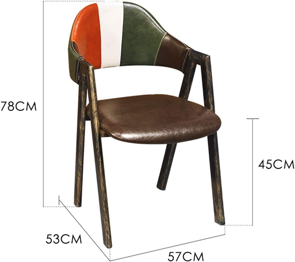 SLL- Chaise de Salle, Chaise de Bureau Simple, créative Dossier, Chaise Loisirs, Maison Adulte Chaise de Salle Moderne (Color : Brown) Brown