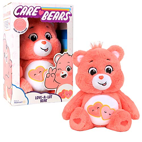 Care Bears - 14u0022 Plush - Love-A-Lot Bear - Soft Huggable Material!