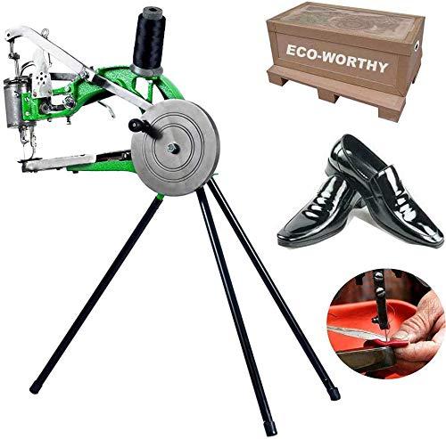 InLoveArts Máquina manual para reparación de zapatos Zapatero, máquina de coser de línea de nailon de algodón doble de 19 x 14 pulgadas, puede reparar zapatos de tela, zapatos de goma,zapatos de cuero