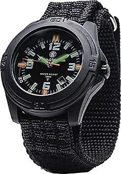 Smith & Wesson Men s 10ATM Soldier Tritium H3 Precision Quartz Tactical-Tough Watch 43mm