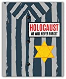 SkyBug We Will Never Forget Holocaust Remembrance Day Bumper Sticker Vinyl Art Decal for Car Truck Van Window Bike Laptop
