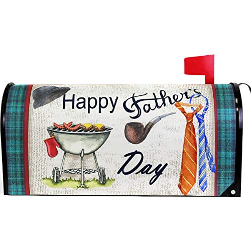 Wamika Spring Happy Father Day Hat Tie Mailbox Cover Magnetic Standard Size,Best Super Dad Sunset Floral Letter Post Box Cover Wrap Decoration Welcome Home Garden Holiday Outdoor 21