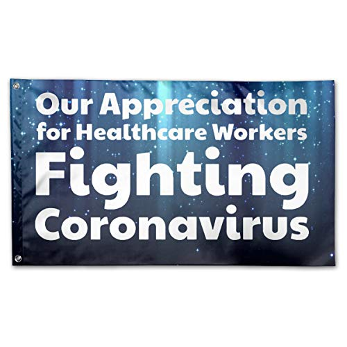 Mrscsefid Our Appreciation for Healthcare Workers Fighting Coronavirus Flag 3 X 5 Flag for Yard Decoration Banner