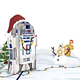 Lovepop Star Wars Festive R2-D2 Pop Up Card - 3D Cards, Pop Up Christmas Card, Holiday Pop Up Card, Merry Christmas Card, Star Wars Card, Christmas Card for Kids