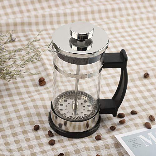 Santing Tetera con 95% de transmitancia de luz, cafetera, Resistente a la corrosión Vidrio Resistente al frío y al Calor para café en Polvo, Hojas de té, Restaurante, cafetería
