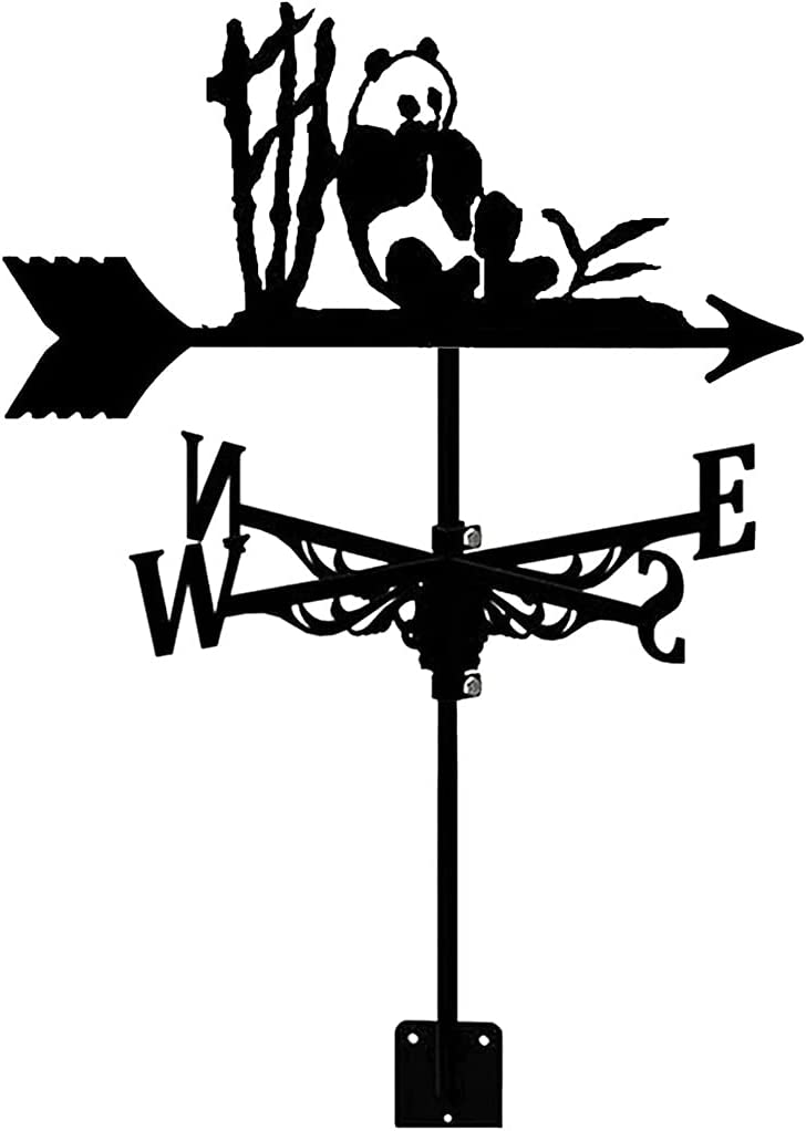 HGFHG Weather Vane Panda Shape Max 82% OFF Steel Home Fees free Stainless Weathercock