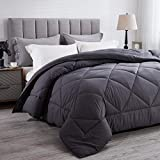 Wamsound All-Season Queen Down Alternative Quilted Comforter,Comfortable Sleep Quilt Bedding,Reversible Duvet Insert with Corner Tabs,Winter Warmth Breathable,Super Soft,Machine Washable(88' x 88')