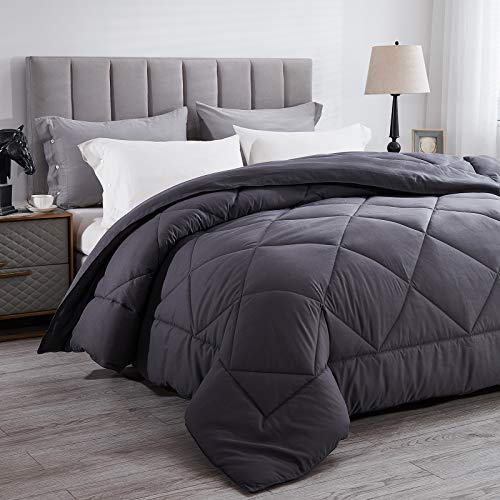 """Wamsound All-Season Queen Down Alternative Quilted Comforter,Comfortable Sleep Quilt Bedding,Reversible Duvet Insert with Corner Tabs,Winter Warmth Breathable,Super Soft,Machine Washable(88"""" x 88"""")"""