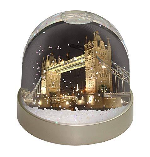 Advanta Group London Tower Bridge Druck Foto Schneekugel Wasserball Strumpffüller Geschenk, Mehrfarbig, 9,2 x 9,2 x 8 cm