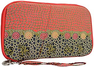 Warrina Designs Aboriginal Wristlet Wallet Passport Hand Bag - Authentic Aboriginal Art
