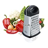 Box Grater - Cheese Grater - Graters for Kitchen,4-Sided Stainless Steel Grater with Detachable Storage Container