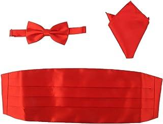 comprar comparacion Set de 3 piezas, fajín, pajarita y pañuelo de bolsillo para traje