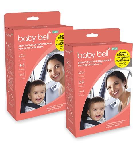 Baby Bell DUO PLUS Set 2 dispositivi anti abbandono Baby Bell PLUS, per 2 auto o accoppiati in una. Universale 100% auto e seggiolini. Funziona...