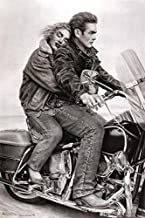 Buyartforless James Dean & Marilyn Monroe (Motorcycle) 24x36 Movie Art Print Poster Romantic