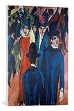 Kunst für Alle Cuadro en Lienzo: Ernst-Ludwig Kirchner Berliner Straßenszene - Impresión artística, Lienzo en Bastidor, 50x70 cm