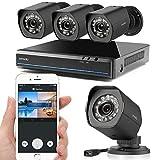 Zmodo Simplified PoE Security Camera Smart System 4 HD Weatherproof Cameras 4...