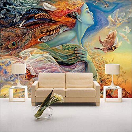 Gepersonaliseerd wandbehang, 3D, abstract, figuur, graffiti, schilderen, bioscoop, bar, hotels, slaapkamer, bank, tv, achtergrond, huis, decoratie, behang 400 x 280 cm