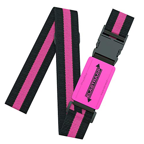 Luggage Straps, Adjustable Non-Slip Baggage Belts- Suitcase Bands For Travel Bag (1 Strap, Party Pink 1pk)
