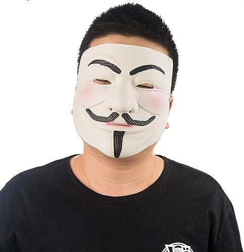 ventas calientes V-Vendetta Máscara Halloween Halloween Halloween Máscara de Navidad Máscara de Cos Cara Mitad Muerte Horror Adulto Masculino máscara Werewolf Matar máscara Máscaras (Color   blanco, Talla   29CM 11inch)  Tienda 2018