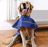 Tineer Ajustable Impermeable Mascota Perro Chaqueta Impermeable con Capucha Impermeable Chaqueta de la Capa de la Lluvia Ropa para Perros Pequeños Medianos Grandes (XS, Azul Oscuro)