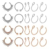 AVYRING Fake Nose Rings Hoop Clip On Nose Septum Ring Faux Non-Pierced Nose Rings Faux Body Piercing Jewelry
